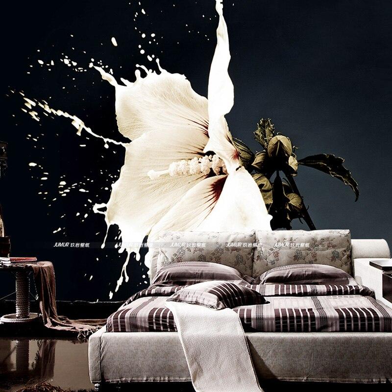Custom 3d Wallpaper Milk Flower Photo Wallpaper Bedroom Living