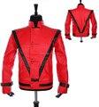 Mj майкл джексон кожа триллер красный куртка и билли джинсовый перчатка