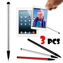 19 novo 3 pçs caneta de tela de toque stylus universal para iphone ipad samsung tablet telefone prata preto vermelho tela toque caneta