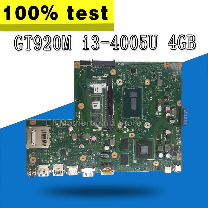 X540LJ Motherboard GT920M I3-4005U 4GB For ASUS X540L X540LJ F540L Laptop motherboard X540LJ Mainboard X540LJ Motherboard x540lj mb