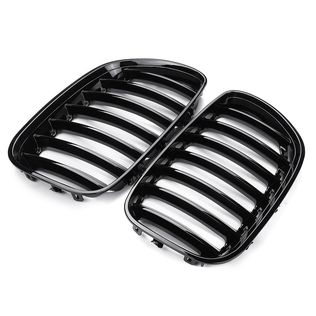 Image 2 - 2Pcs Gloss Black Car Front Kidney Grill Grilles Right & Left for BMW X5 E53 2004 2005 2006 ABS 51137124815 51137124816-in Racing Grills from Automobiles & Motorcycles