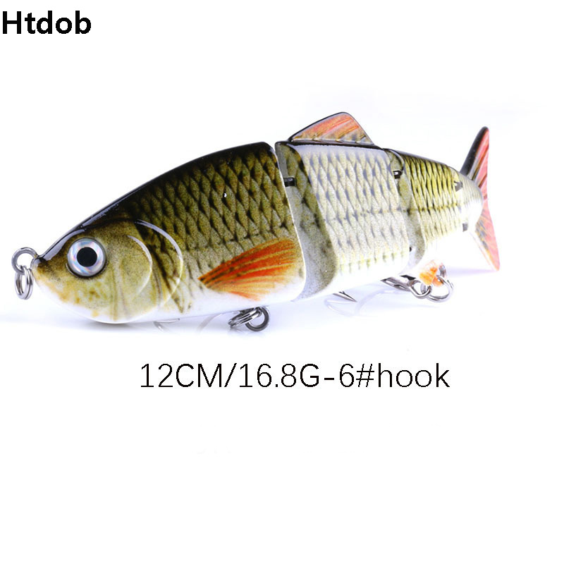 Robalo 6 # Pesca Gancho Preto Tackle Wobbler vibração Isca