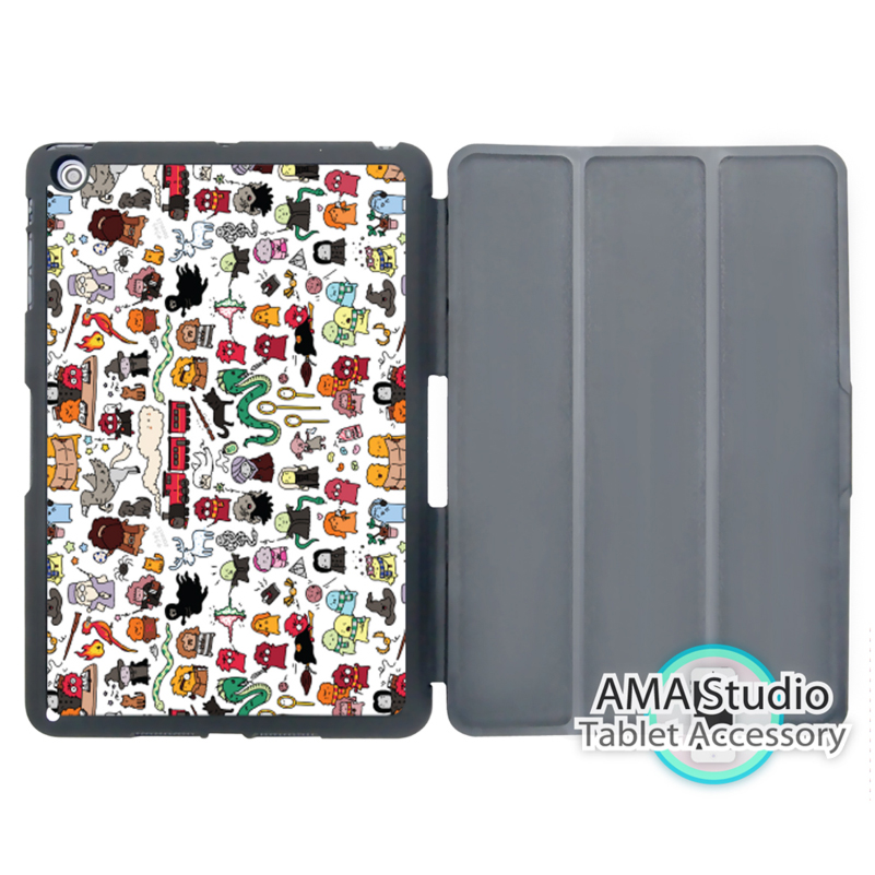 все цены на Harry Potter All Characters Doodle Smart Cover Case For Apple iPad Mini 1 2 3 4 Air Pro 9.7 онлайн