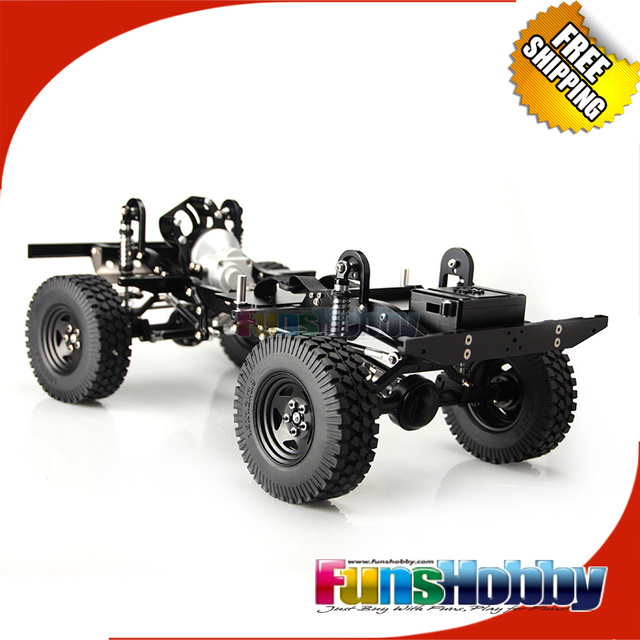 Mhpc 1 10 Rc Crawler Cars Electric Off Road Alloy Chassis Kit V2
