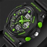 SANDA Luxury Brand Luminous Multifunction Military Army Sport Watches Waterproof Men S Dual Display Casual Quartz
