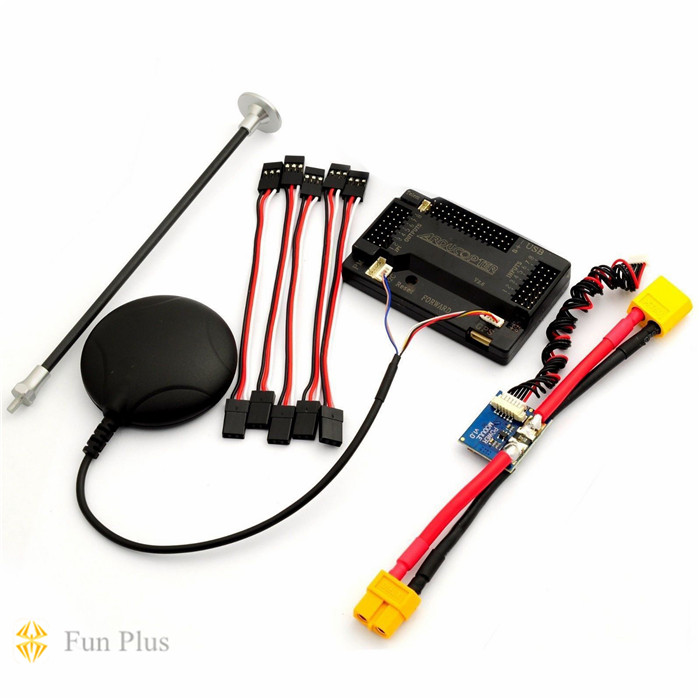 APM V2.8.0 ArduPilot UAV Flight Controller APM2.8 with Ublox Neo-6M GPS & PM for Multicopter Plane apm 2 6 flight controller board ardupilot mega 2 6 version with side pin connector for multicopter