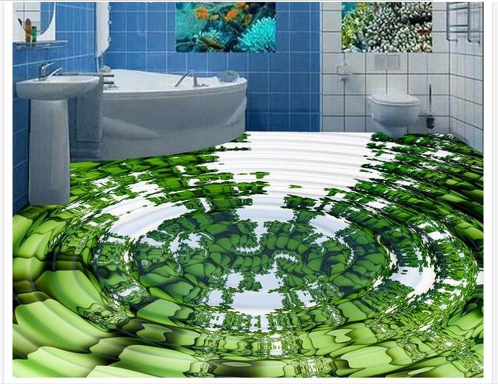 ФОТО Custom 3 d PVC wallpaper photo wallpaper The new 3 d floor water wave wave motion floor wallpaper