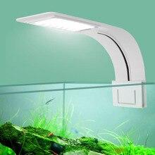 Ultra Thin LED Aquarium Light 5W/10W/15W Aquatic Plant Lighting Waterproof Clip-on Lamp For Fish Tank Plants Grow Light