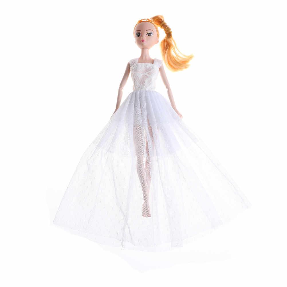 Модное дизайнерское свадебное платье принцессы благородные вечерние кукольный наряд лучший подарок для девочек детские кухонные принадлежности Одежда для девочек