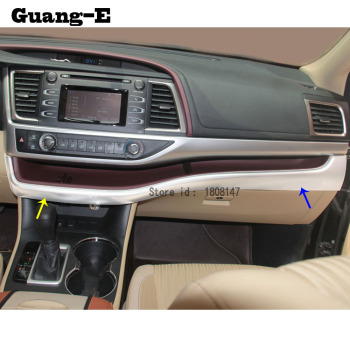 car sticker styling garnish cover trim middle up air conditioning switch Outlet Vent 1pcs for Toyota Highlander 2015 2016 2017