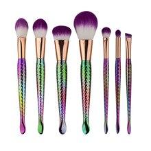 Colorful Unicorn Makeup Brushes 8pcs Unique Design Professional Foundation Powder Eyeshadow Brush Face Fantasy