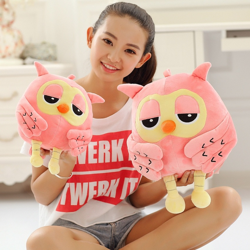 1Pc 35-50CM Big Size plush Owl Cute Pink Green Stuffed Soft Plush Toy Doll Sofa Pillow Kids Grilfriend Birthday Christmas Gift