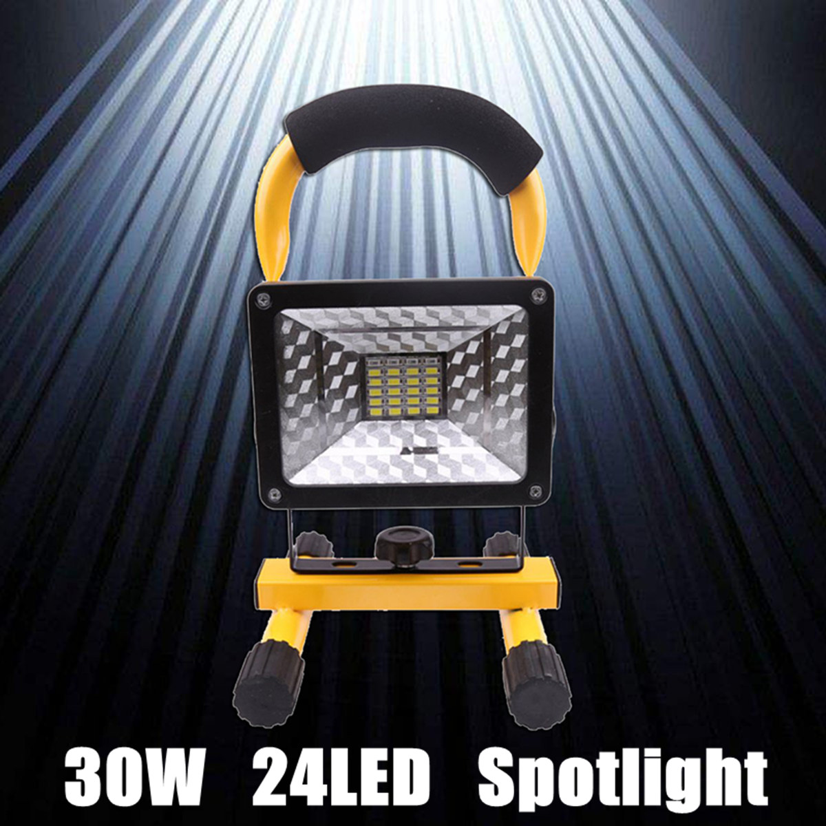 цена 1Set 24LED 2400LM Portable Rechargeable Work Light Floodlights US Plug Camping Outdoor Lawn Lamp LED Flood Light Universal