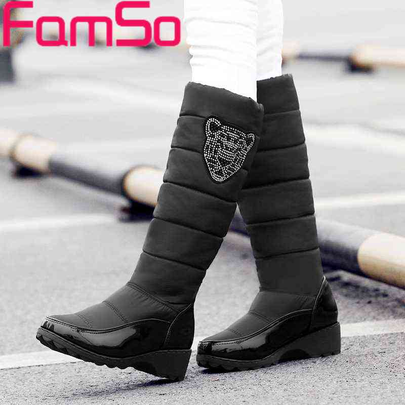 Free shipping 2016 New Arrival font b Women b font Russia and Australia Snow Boots platforms