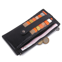 Fashion New Luxury Oil Wax Cowhide Men S Wallet Long Genuine Leather Credit Card Holder Purse