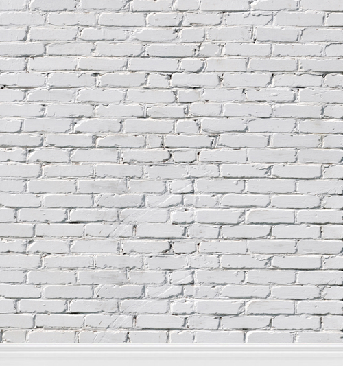 HUAYI Hot sale white bricks printed backdrops for photo