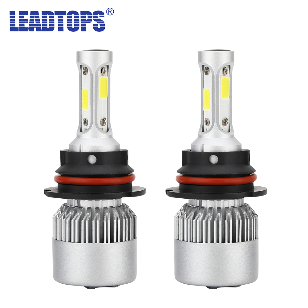 72W 9000LM LED Headlight Kit Light Bulb H1//H3//H4//H7//H11//9005//9006 High Low Beam