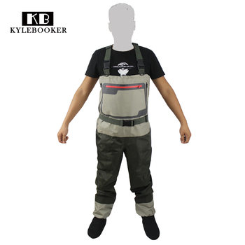 Men's Hunting wader Breathable Stocking foot Wader Light weight Convertible Fishing Chest Waders Wading Pants  For Fly Fishing high jump camouflage fishing waders 0 7mm pvc breathable waterproof chest fishing wader unisex dichotomanthes end fishing waders