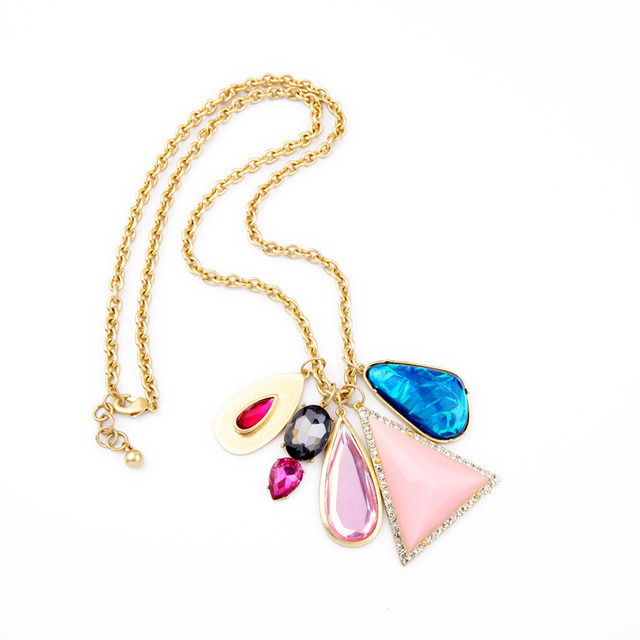Designer Jewelry For Fashion Ladies Colorful Maxi Necklace Imitation