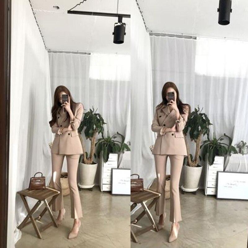Taille Pièces La Mode Travail Pièce Mince Ensembles Hiver Coréennes black Apricot Ensemble Velours Deux Tenues Plus Nouvelle Vêtements Costume Femmes De q1wAz8x