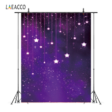 Laeacco Twinkle Little Stars Baby Birthday Party Snowflake Photo Backgrounds Customized Photographic Backdrops For Studio