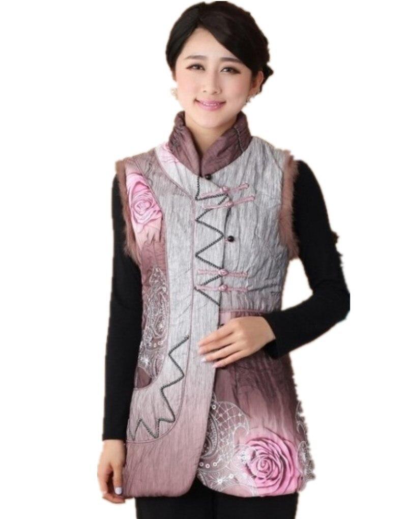 Shanghai histoire chinois gilet chinois traditionnel tissu gilet pour les femmes/chinois traditionnel sans manches vestes 2 couleur 2360