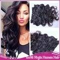Rosa productos para el cabello 100% sin procesar remy virginal brasileña del pelo onda floja del pelo clip en extensiones de cabello 10-30 pulgadas para negro de las mujeres