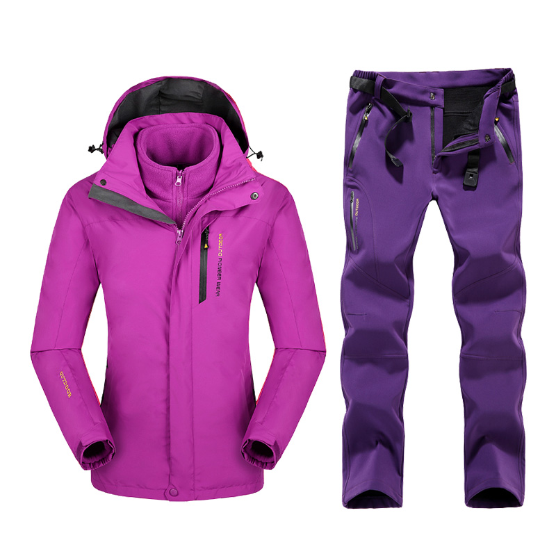 plus size mountain skiing ski wear waterproof hiking