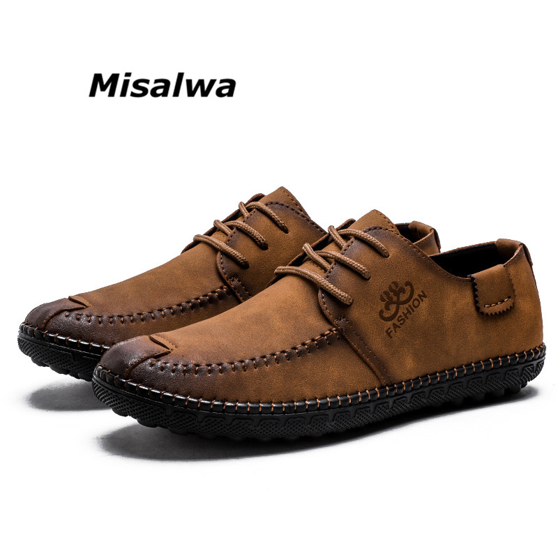 Sapatilha Barco Respirável Da Condução Dos Rendas Para Mocassins Sapatas Khaki up Homens Até Vintage A Do Dark lack Marrom 2019 Lazer Khaki Misalwa lack De Escuro up on Brown Brown on Loafers Slip slip 1qwXBan