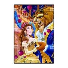 Ruxing 5D DIY Diamond Painting Cartoon Cross Stitch Embroidery Beauty and the beast Pattern Mosaic Needlework