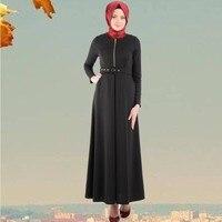 Ysmarket musulmane אופנה גבירותיי שרוול ארוך zip שמלות מוסלמיות abaya jalabiya קפטן אסלאמי בגדי dress לנשים y1002