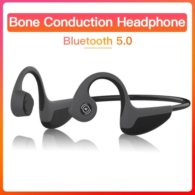 Bluetooth 5,0 Z8 Беспроводные наушники с костной проводимостью наушники для спорта на открытом воздухе гарнитура с микрофоном гарнитуры громкой связи