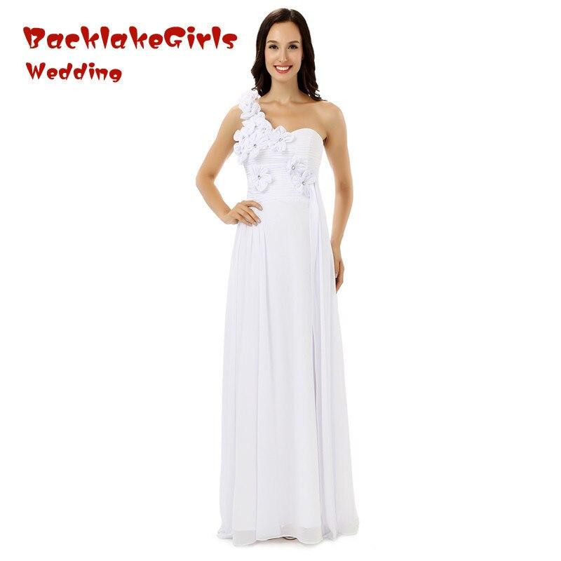Bridal 2017 Simple Pure White Floor Length Prom Dresses