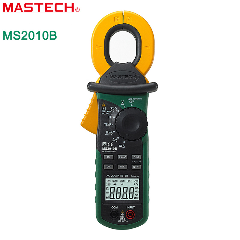 MASTECH MS2010B Digital LCD Electrical Professional Multifunction High Sensitivity AC Leakage Current Tester Clamp Meter DMM high quality mastech ms2006b digital clamp meters ac current tester ac leakage clamp meter 0 001ma resolution