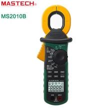 MASTECH MS2010B Цифровой ЖК Электрический Профессиональный Многофункциональный Высокая Чувствительность AC Ток Утечки Тестер Клещи DMM