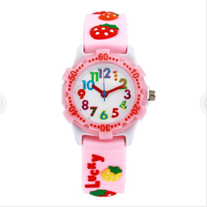 Watch for girls strawberry Waterproof Kid Watches Brand Quartz Wrist Watch Baby Girls Boys Fashion Casual Reloj купить недорого в Москве
