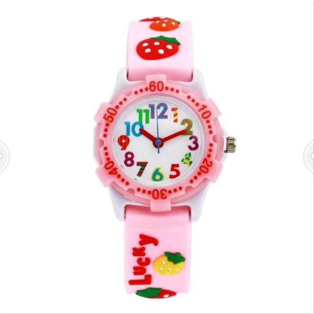 Watch for girls strawberry Waterproof Kid Watches Brand Quartz Wrist Watch Baby