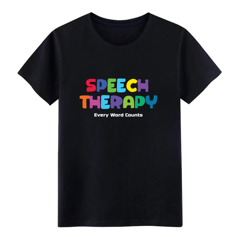 Men's Speech Therapy - Every Word Counts T Shirt t shirt Character Short Sleeve O Neck Unisex Loose New Style Pictures shirt image
