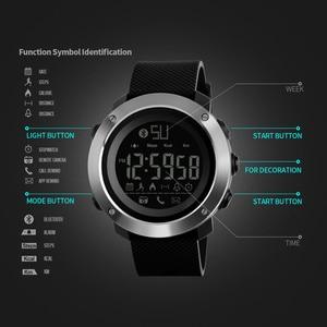Image 4 - Skmei Fashion Bluetooth Smart Men Watches Calorie Digital Sports Pedometer LED Watch Call Reminder Waterproof Wristwatch Zegarki