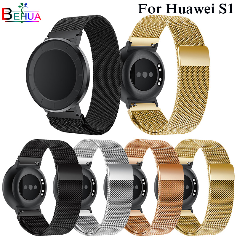 Fashion 18mm Watch Strap For Huawei S1 Milanese Stainless Steel bands Bracelet For Huawei Honor S1 Smart Watch Band Correa Reloj new best price milanese magnetic loop stainless steel band strap bracelet for huawei honor 3 smart watch drop shipping jan8