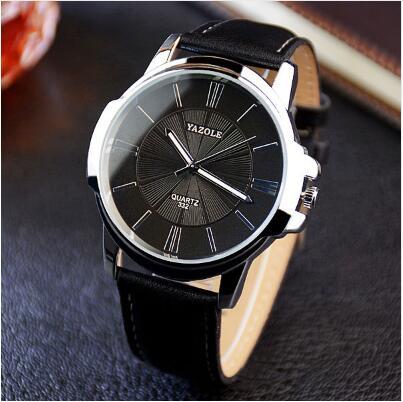 YAZOLE Sports Men Watch Luxury Top Brand business Male Clock simple WristWatch Leisure Fashion Leather quartz watch Relogios 4