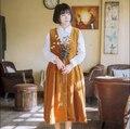 Оригинальный дизайн осень зима старинные harajuku dress мори девушка свободные повседневная A-Line новая мода женщины dress