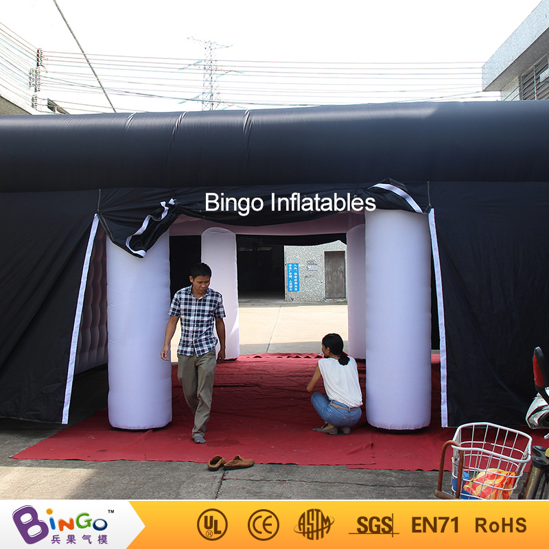 Black outside white inside 7X7X3.5 m inflatable event tent for party High quality blow up tent for commercial show toy cube tent factory direct sale 6x6x3 5 m inflatable dome igloo tent for outdoor event high quality blow up all white yurt tent toy tent