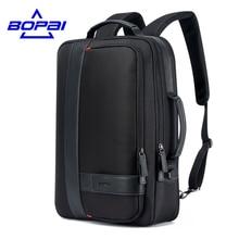 Bopai Бизнес Для мужчин рюкзак черный Зарядка через USB anti theft ноутбук рюкзак 15.6 дюймов мужской большой Ёмкость Колледж Школьные сумки