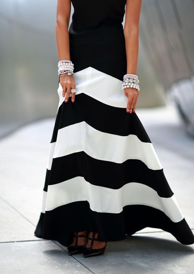 Vestido blanco y negro casual
