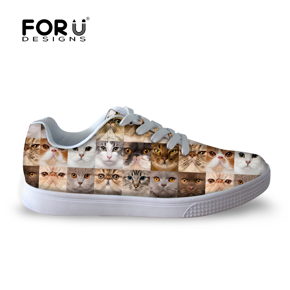 Skate shoes quality - Cute Cat Face Casual Shoes Men Outdoor Sport Skate Shoes High Quality Man Flat Shoes Comfort