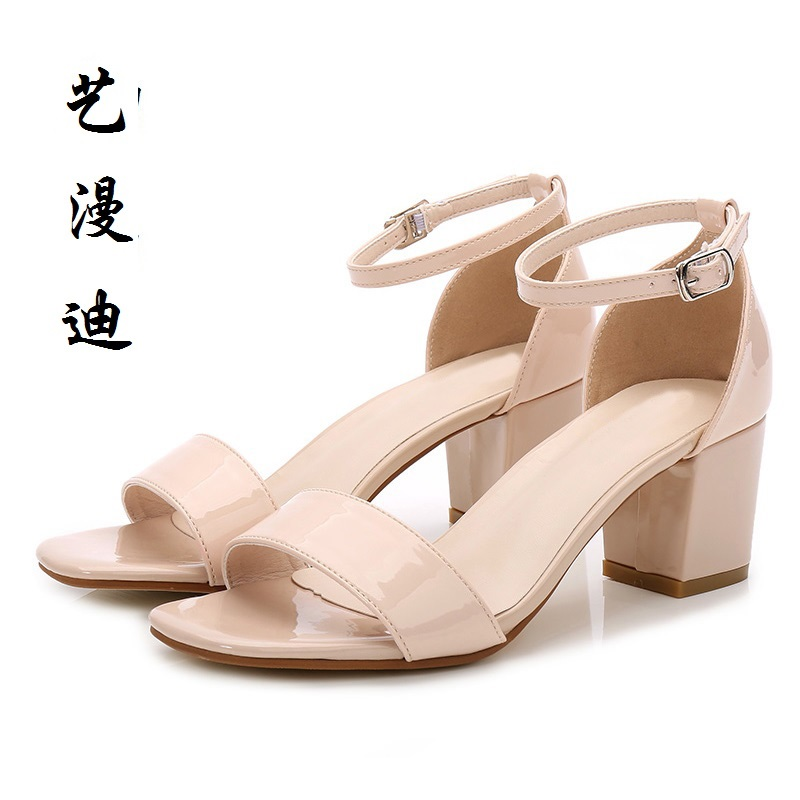 2017 Small Size 31-43 Fashion Rough heel Sexy Women Sandals High Heels Ladies Pumps Shoes Woman Summer Style Chaussure Femme 32 wild style water transfer decal nail art decoration sticker