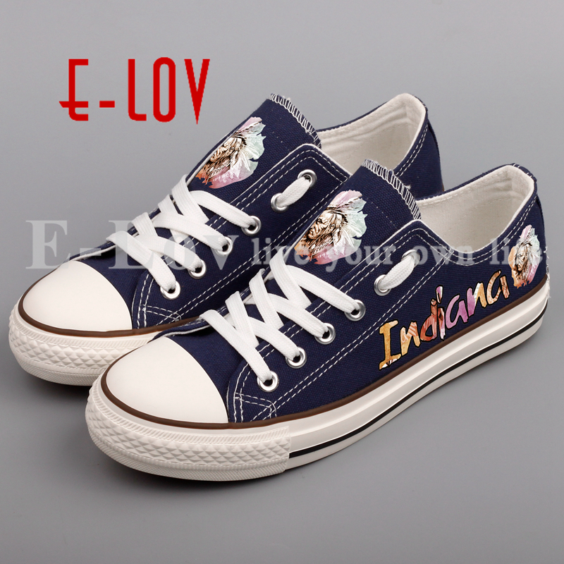 E-LOV Fashion Brand Printed Indiana Tribal Canvas Shoes Women Vintage Casual Flat Shoes Unisex zapatos mujer e lov women casual walking shoes graffiti aries horoscope canvas shoe low top flat oxford shoes for couples lovers