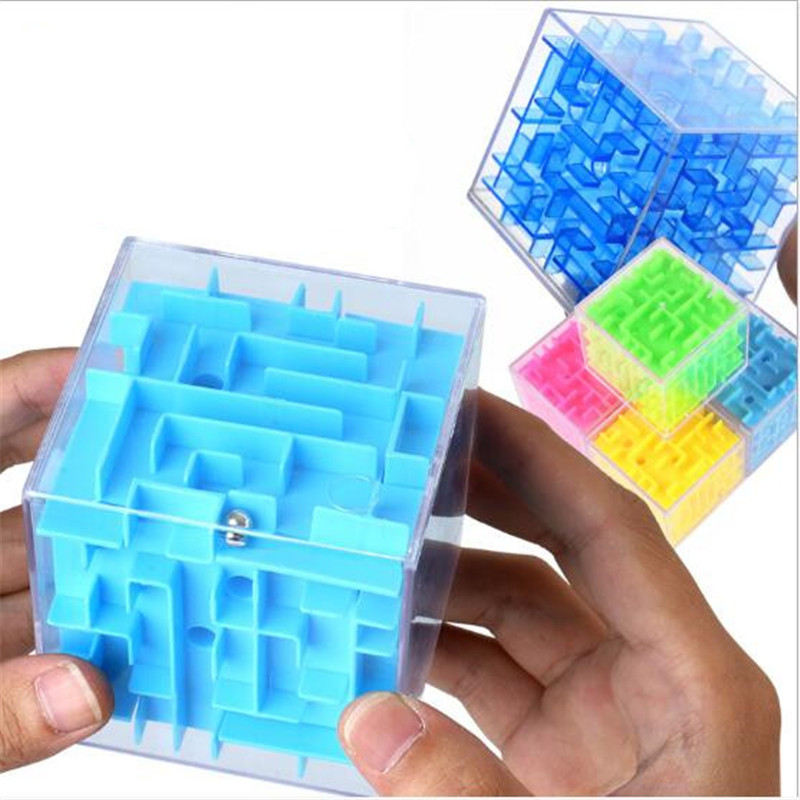 3D Cube Puzzle Maze Toys Balance Hand Game Adult Stress Relief Toys Brain Challenge Education Toys For Children