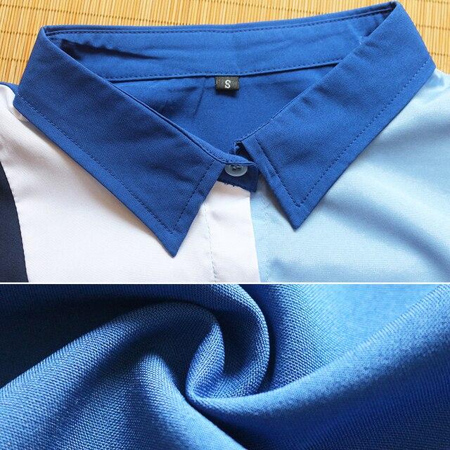 Women Blouses Fashion Long Sleeve Turn Down Collar Office Shirt Leisure Blouse Shirt Casual Tops 6